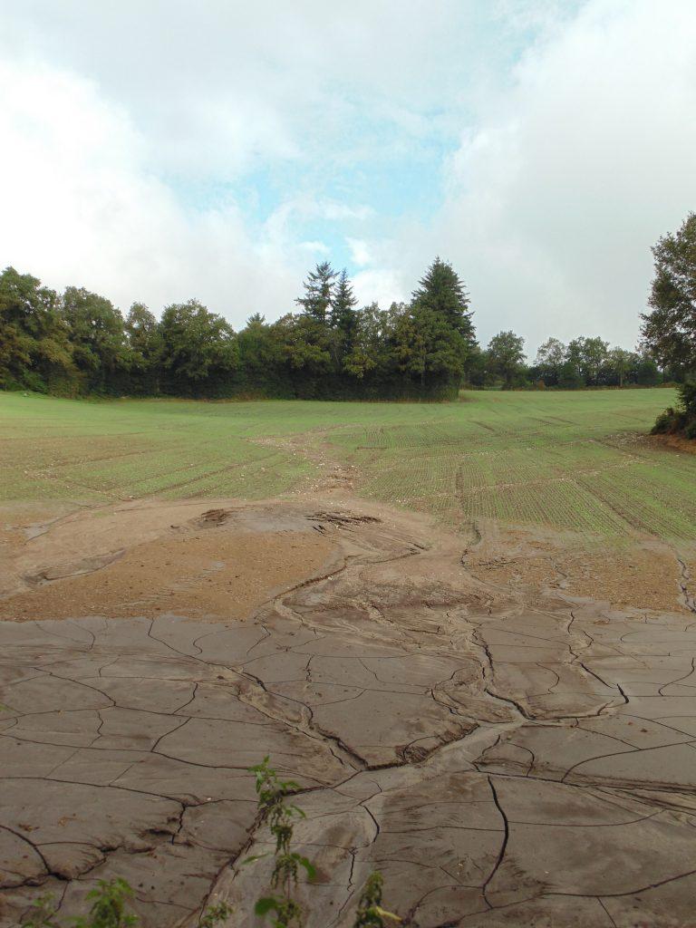 Erosion suite à un épisode pluvieu