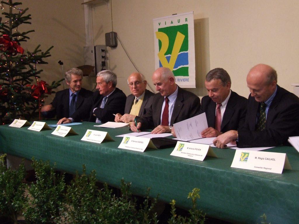 Signature du Contrat de Rivière Viaur 2 - Année 2008