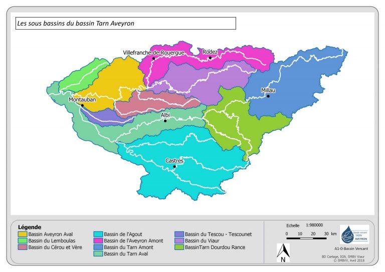 Les sous bassins du Tarn Aveyron