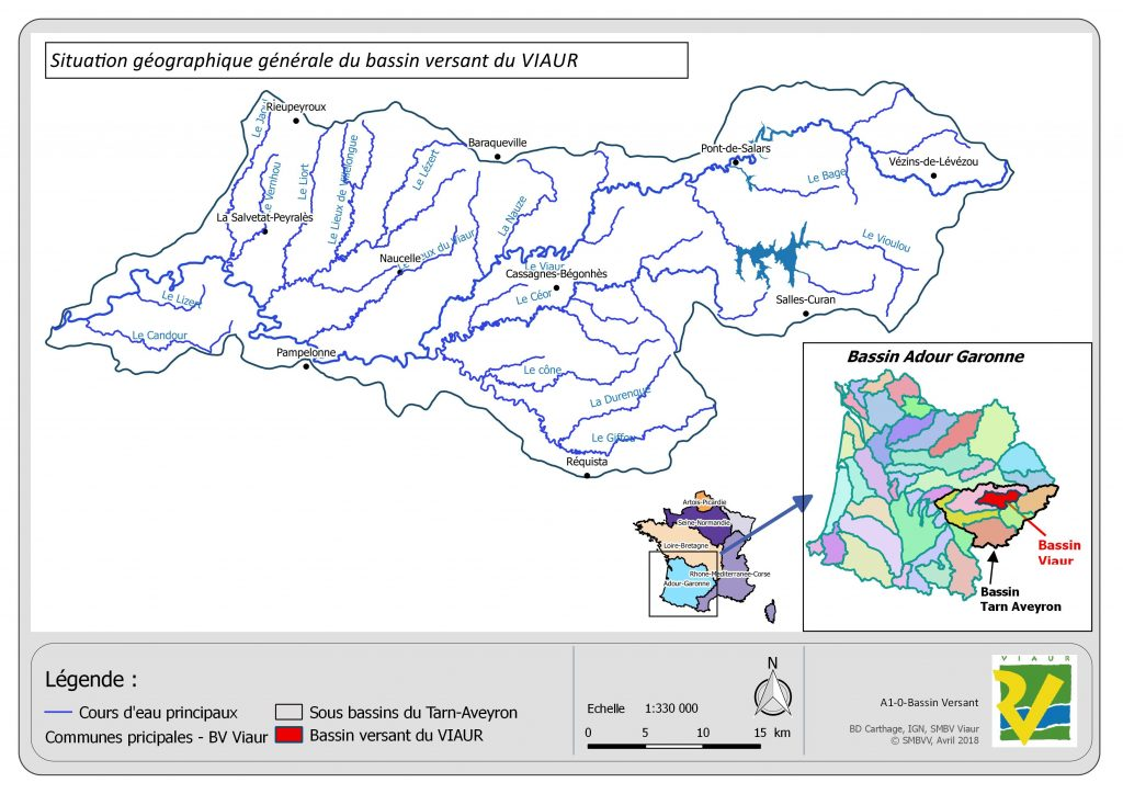 Carte : Localisation du bassin versant du Viaur