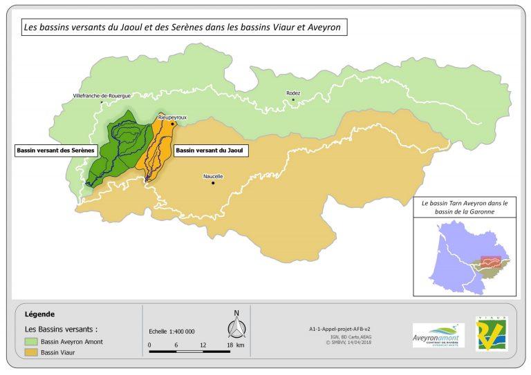 Carte : territoire d'étude de l'impact cmulé des plans d'eau