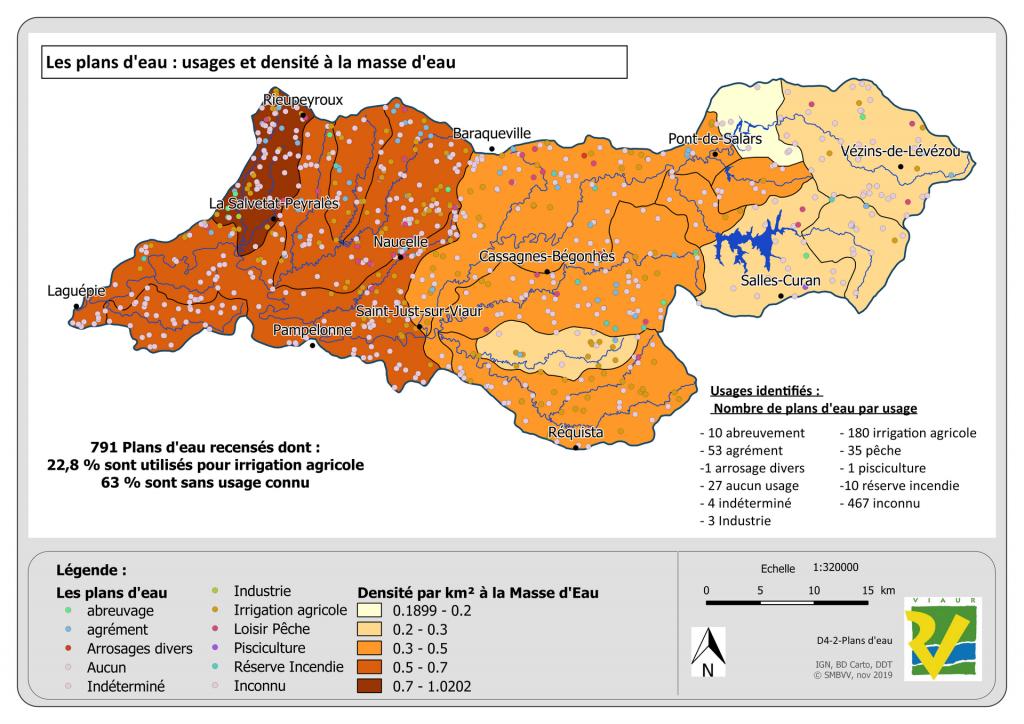 Carte : Plan eau : Usages et Densité