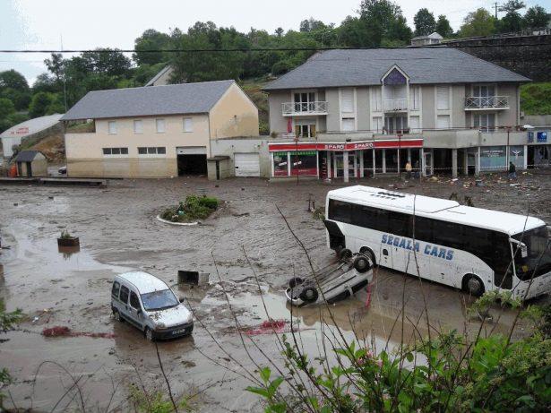 Cassagnes - Inondation de 2007